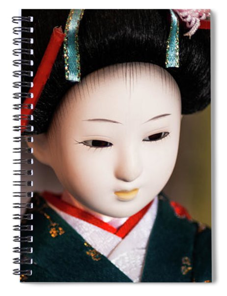 Japanese Doll Spiral Notebook