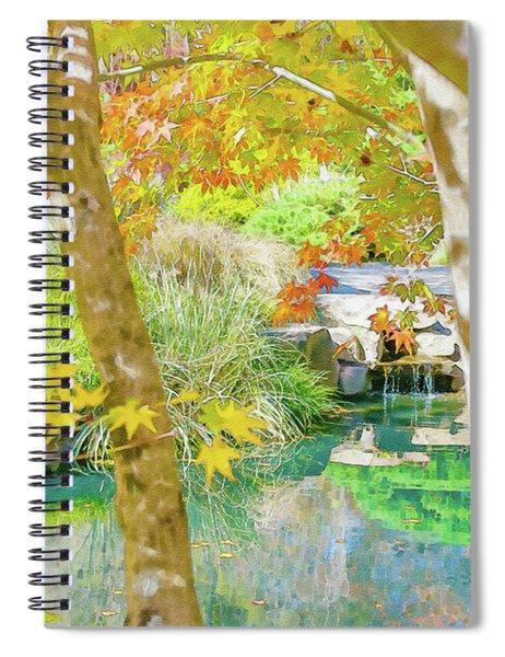 Japanese Garden Pond Spiral Notebook