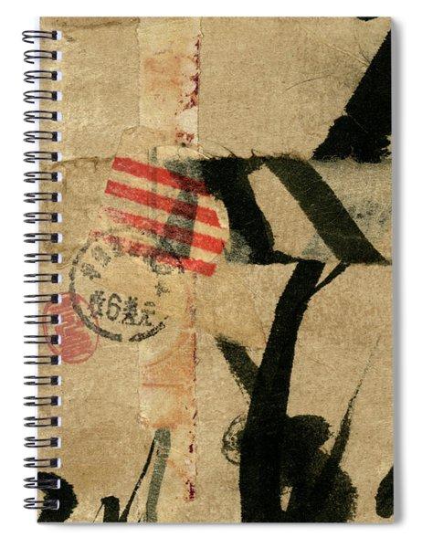 Japanese Postcard Collage Spiral Notebook