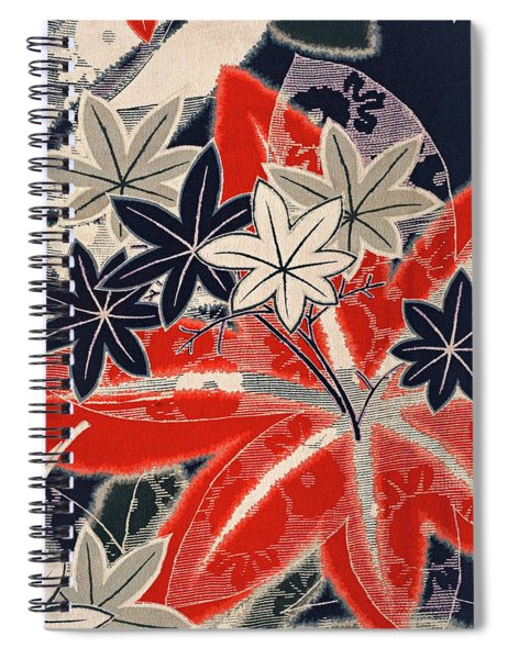 Japanese Style Maple Interior Art Painting. Spiral Notebook