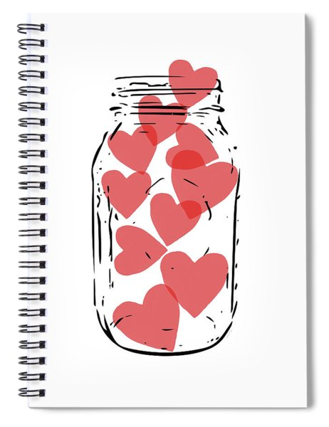 Jar Of Hearts- Art By Linda Woods Spiral Notebook