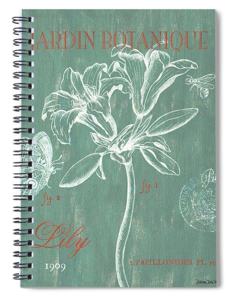 Jardin Botanique Aqua Spiral Notebook