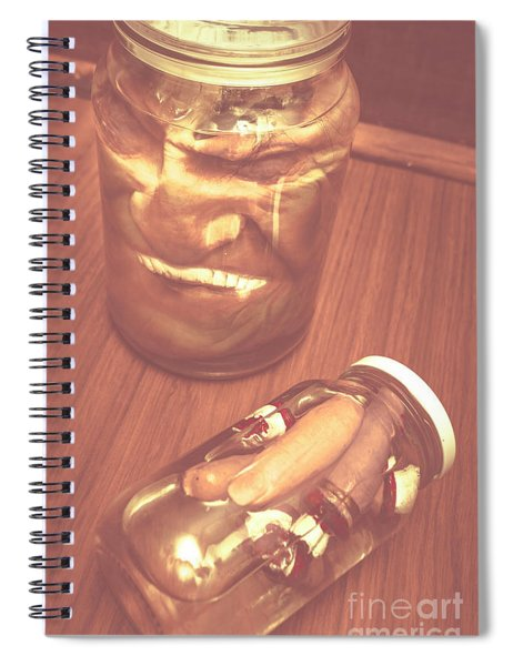 Jars Of Evil Monsters Spiral Notebook