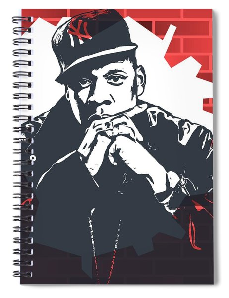 Jay Z Graffiti Tribute Spiral Notebook
