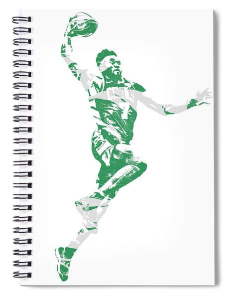 Jaylen Brown Boston Celtics Pixel Art 10 Spiral Notebook