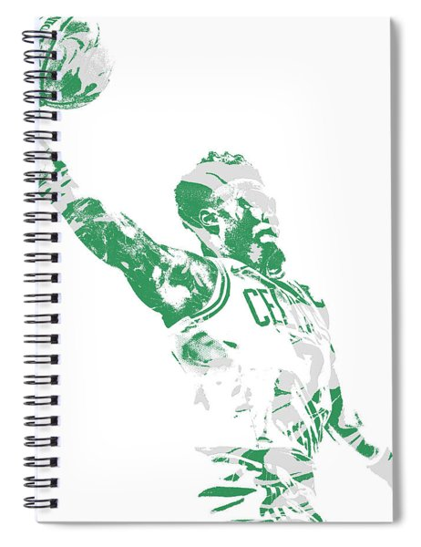 Jaylen Brown Boston Celtics Pixel Art 11 Spiral Notebook