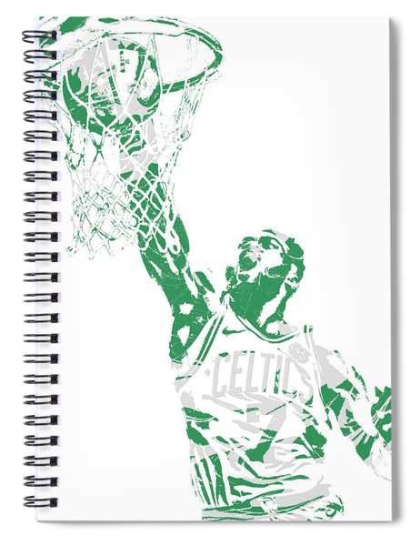 Jaylen Brown Boston Celtics Pixel Art 12 Spiral Notebook