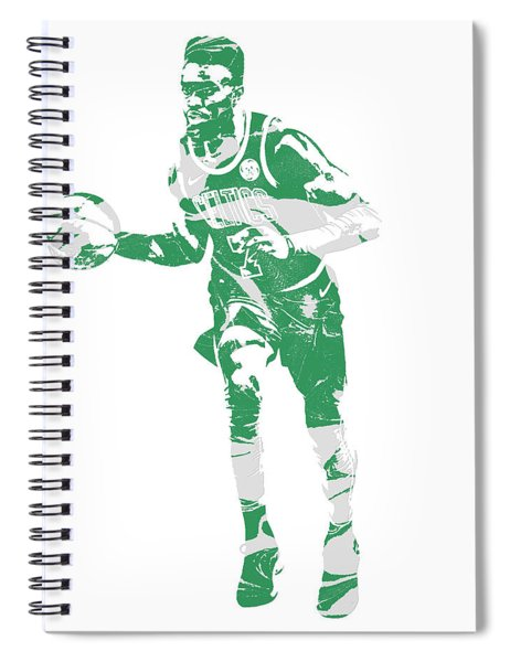 Jaylen Brown Boston Celtics Pixel Art 30 Spiral Notebook