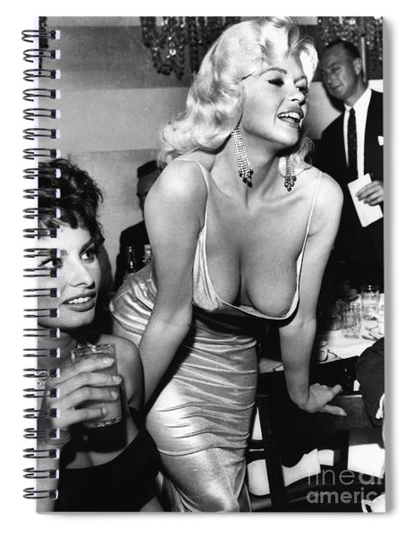 Jayne Mansfield Hollywood Actress And, Italian Actress Sophia Loren 1957 Spiral Notebook