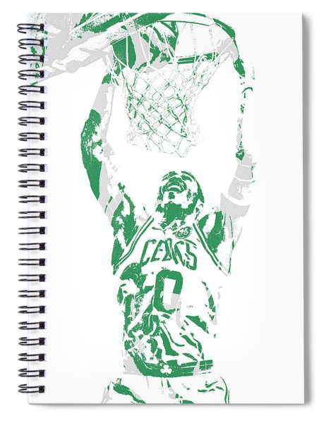 Jayson Tatum Boston Celtics Pixel Art 10 Spiral Notebook