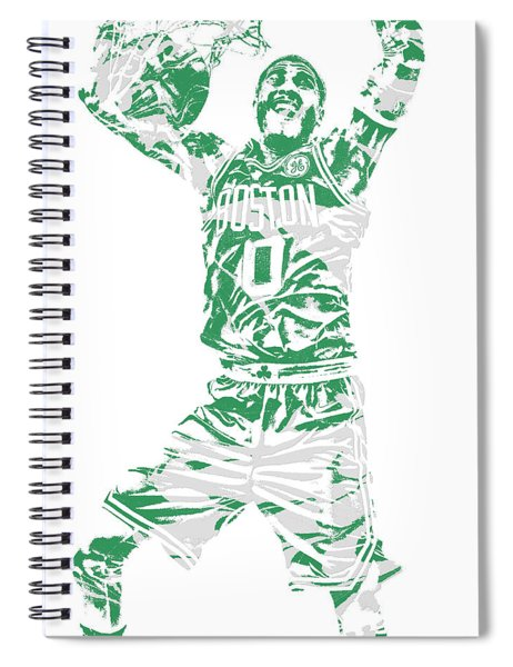 Jayson Tatum Boston Celtics Pixel Art 11 Spiral Notebook
