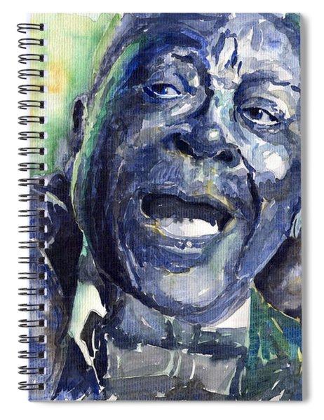 Jazz B.b.king 04 Blue Spiral Notebook