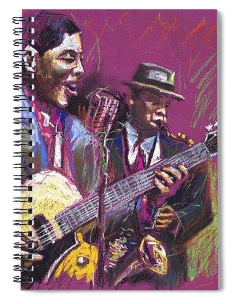Jazz Guitarist Duet Spiral Notebook