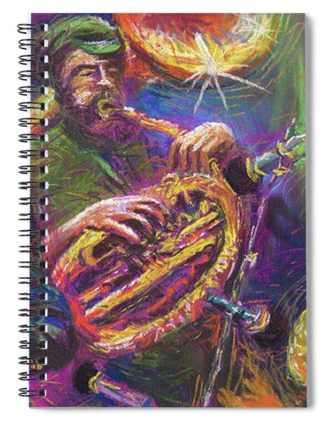 Jazz Jazzband Trio Spiral Notebook
