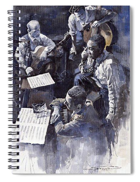 Jazz Parker Tristano Bauer Safransky Rca Studio Ny 1949 Spiral Notebook