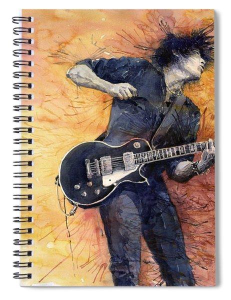 Jazz Rock Guitarist Stone Temple Pilots Spiral Notebook