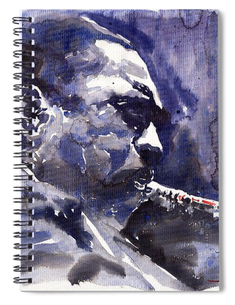 Jazz Saxophonist John Coltrane 01 Spiral Notebook