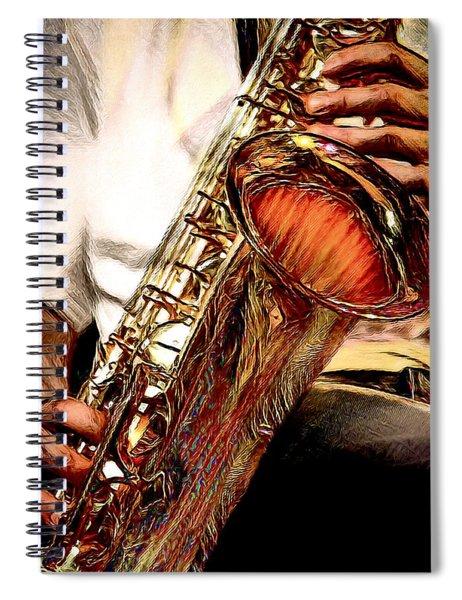 Jazzy Sax Spiral Notebook