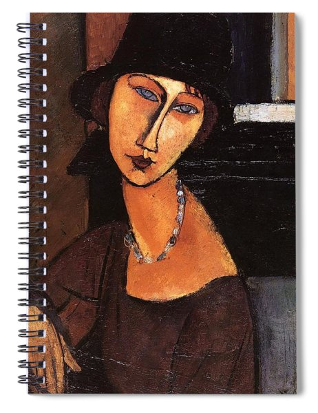 Jeanne Hebuterne With Hat And Necklace Spiral Notebook