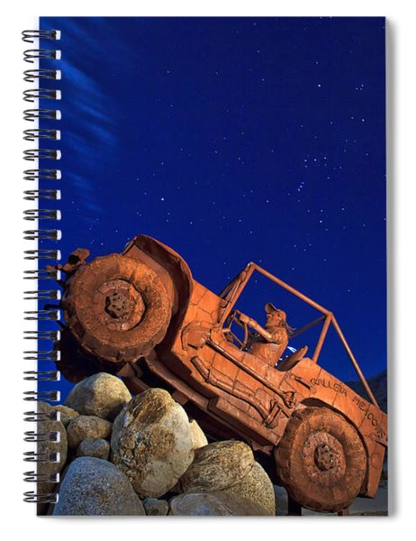 Jeep Adventures Under The Night Sky In Borrego Springs Spiral Notebook