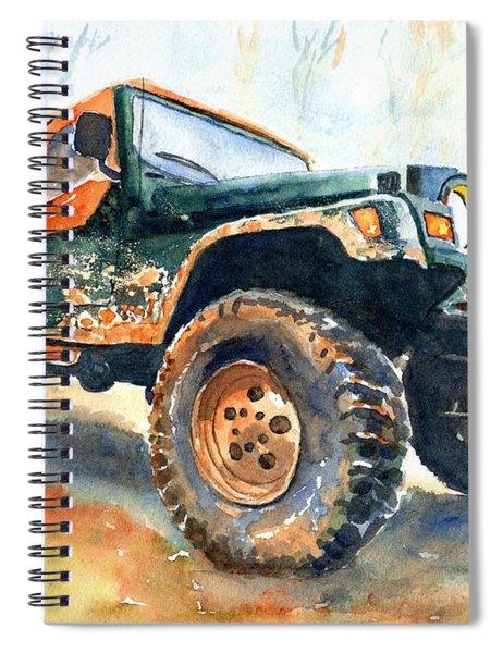 Jeep Wrangler Watercolor Spiral Notebook