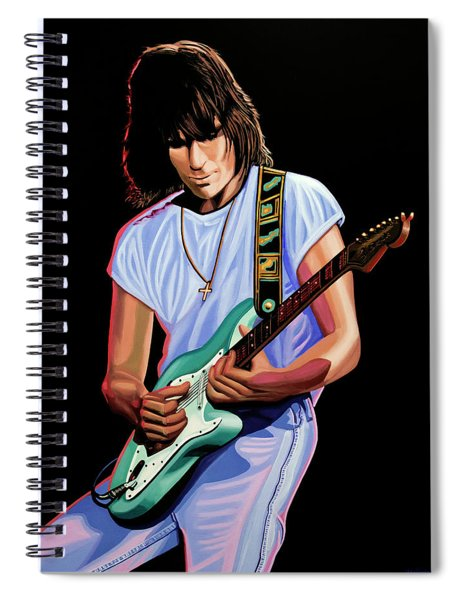 Jeff Beck Painting Spiral Notebook