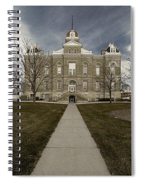 Jefferson County Courthouse In Fairbury Nebraska Rural Spiral Notebook