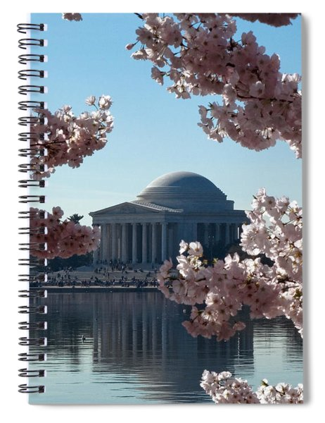 Jefferson Memorial At Cherry Blossom Time On The Tidal Basin Ds008 Spiral Notebook