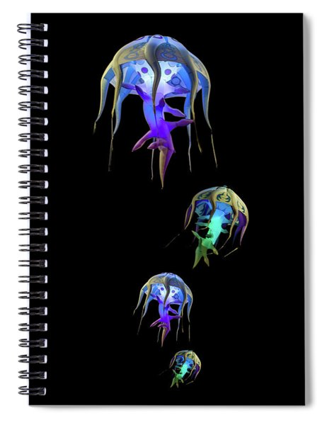 Jellys In Space Spiral Notebook