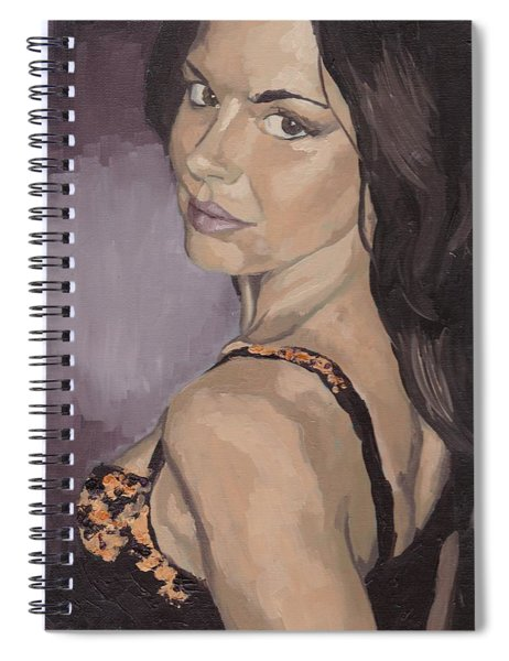 Jenny In Black Spiral Notebook