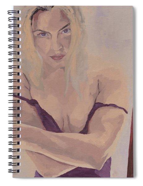 Jenny In Purple Spiral Notebook