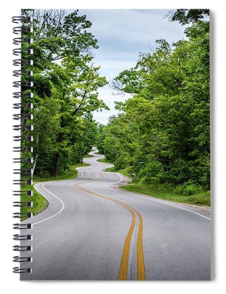 Jens Jensen's Winding Road Spiral Notebook