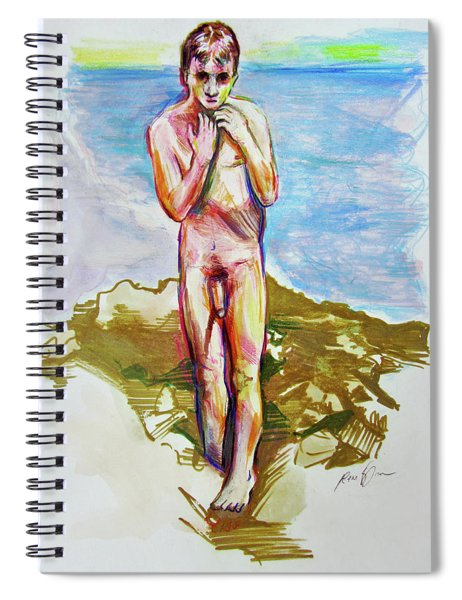 Jeremy At The Beach Spiral Notebook