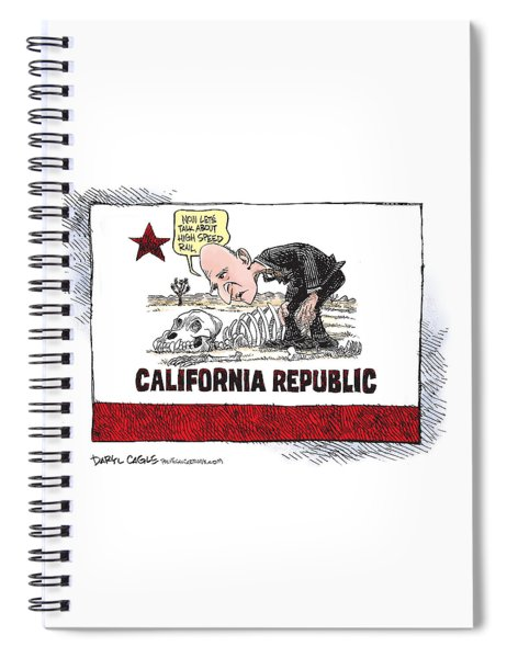 Jerry Brown - California Drought And High Speed Rail Spiral Notebook
