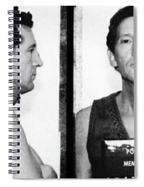 Jerry Lee Lewis Mug Shot Horizontal Spiral Notebook