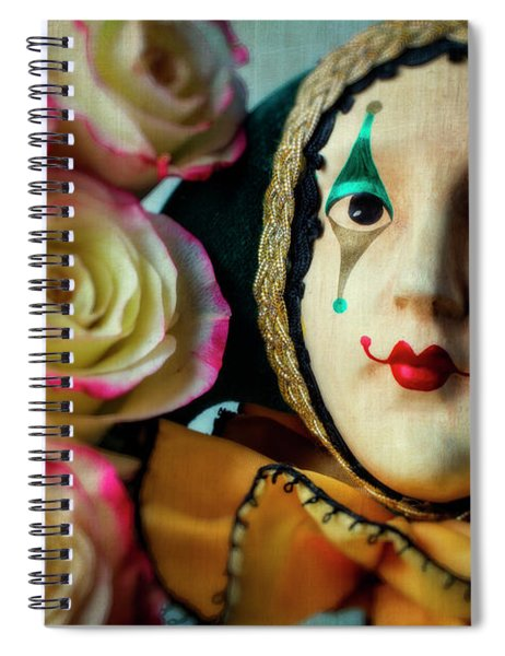 Jester And Roses Spiral Notebook