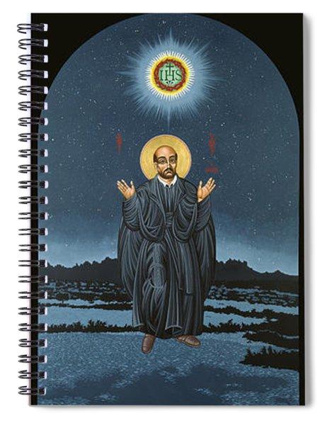 Jesuit Triptych-st Peter Faber-st Ignatius-st Francis Xavier Spiral Notebook
