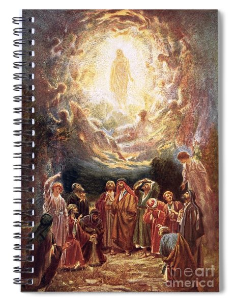 Jesus Ascending Into Heaven Spiral Notebook