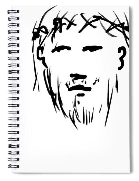 Jesus Christ Head Spiral Notebook