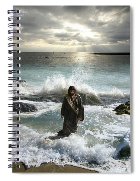 Jesus Christ- I Have Come As A Light Into The World Spiral Notebook