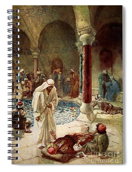 Jesus Cures A Sick Man Spiral Notebook