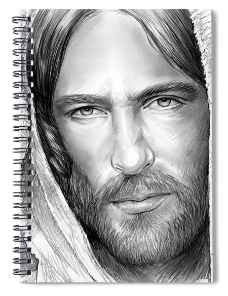 Jesus Face Spiral Notebook