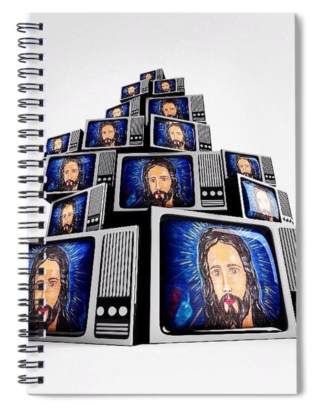 Jesus On Tv Spiral Notebook