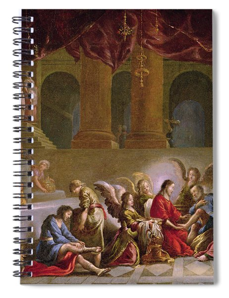 Jesus Washing The Disciples Feet  Spiral Notebook