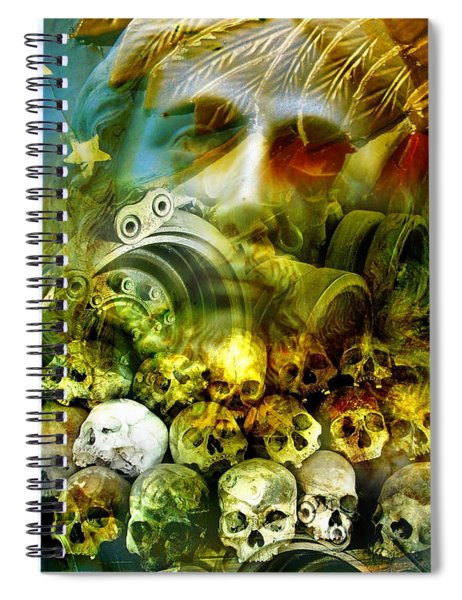 Spiral Notebook featuring the photograph Jesus Wept by Skip Hunt