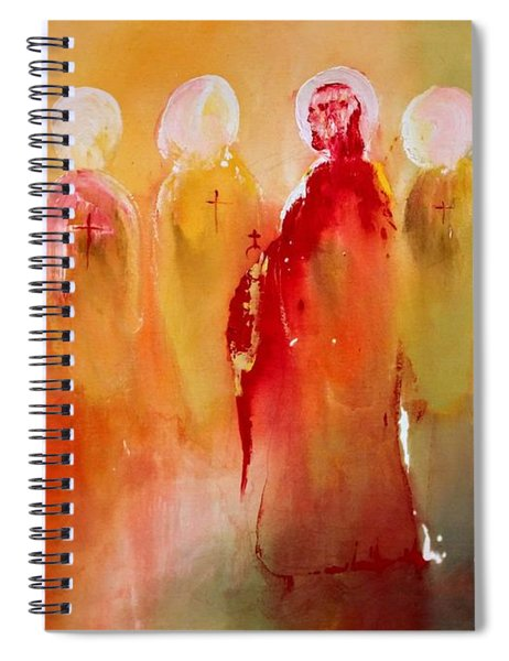 Jesus With His Apostles Spiral Notebook
