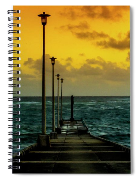Jetty At Sunrise Spiral Notebook