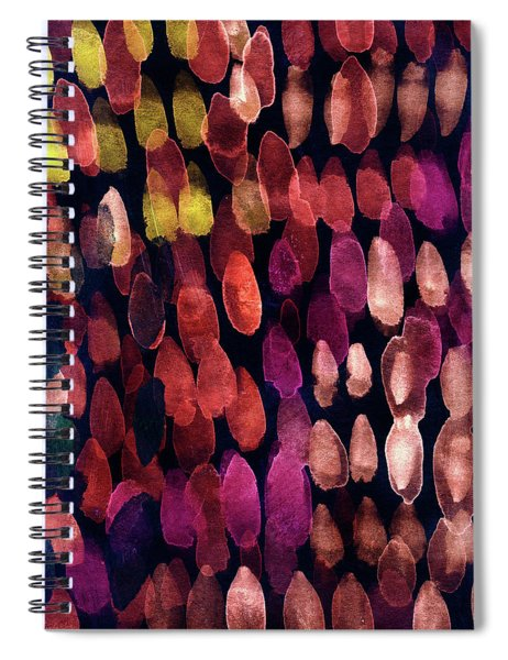 Jewel Drops- Abstract Art By Linda Woods Spiral Notebook