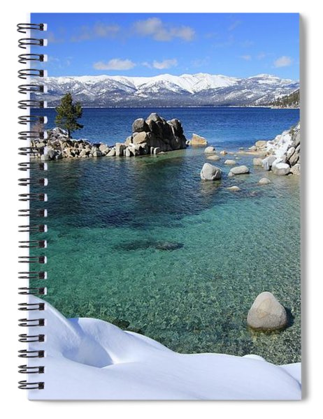 Jewels Of Winter Spiral Notebook