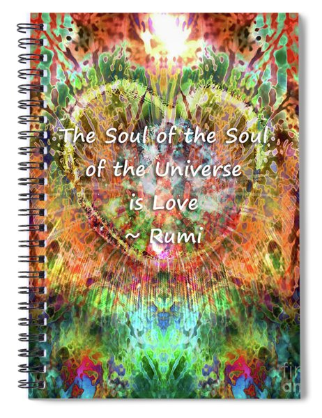 Spiral Notebook featuring the digital art Soul Of The Soul by Atousa Raissyan